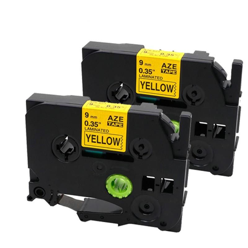 1PK Black on Yellow Flexible Tape Label Compatible Brother TZ-FX631 TZe-FX631