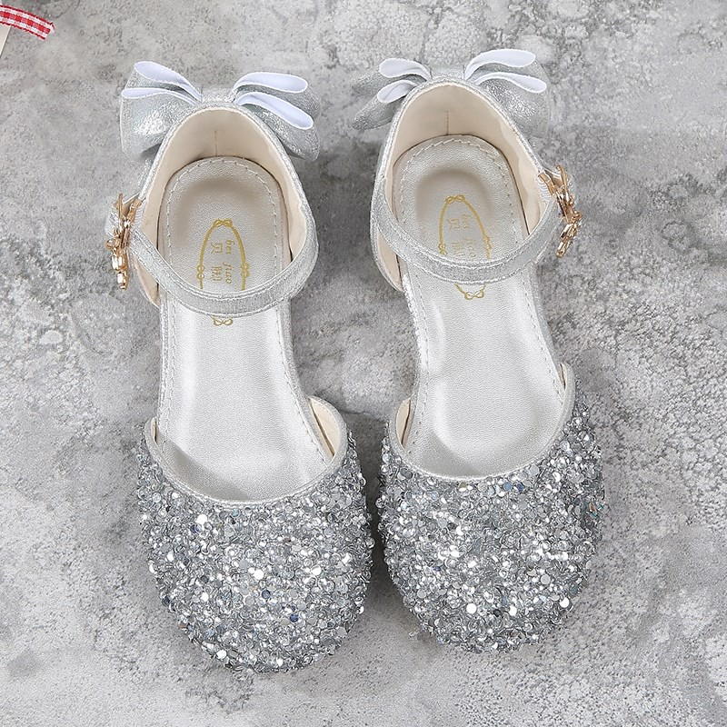 4e407ed850e6c Children's shoes summer sandals girls crystal shoes girls princess children  big children baby shoes