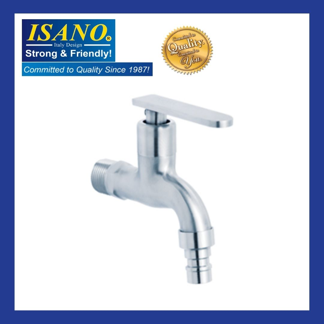 ISANO Stainless Steel Wall Mounted Bib Tap - 1000BS