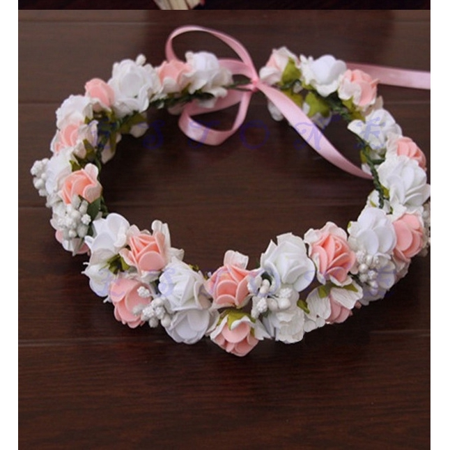 Wedding Girls Headband Headwear Flower Hairband Bracelet Floral Garland