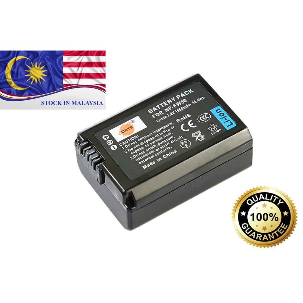 DSTE NP-FW50 Li-ion Battery for Sony NEX-5 NEX-6 NEX-7 NEX-F3 A3000 (Ready Stock In Malaysia)
