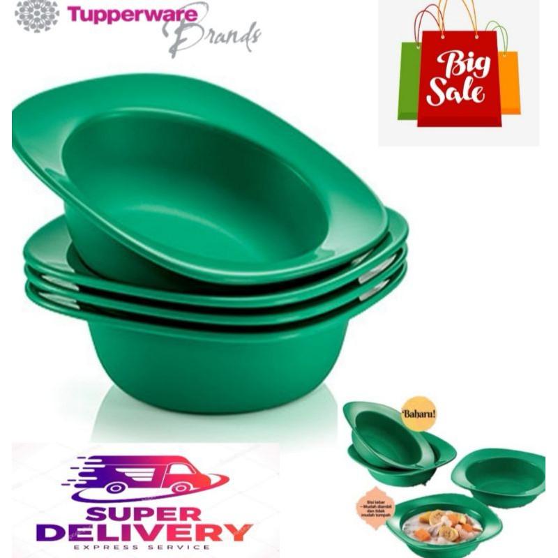 🔥READY STOK IN MY SHOP🔥 [ORI 💯] Tupperware Emerald Blossom Bowl 4pcs 350ml