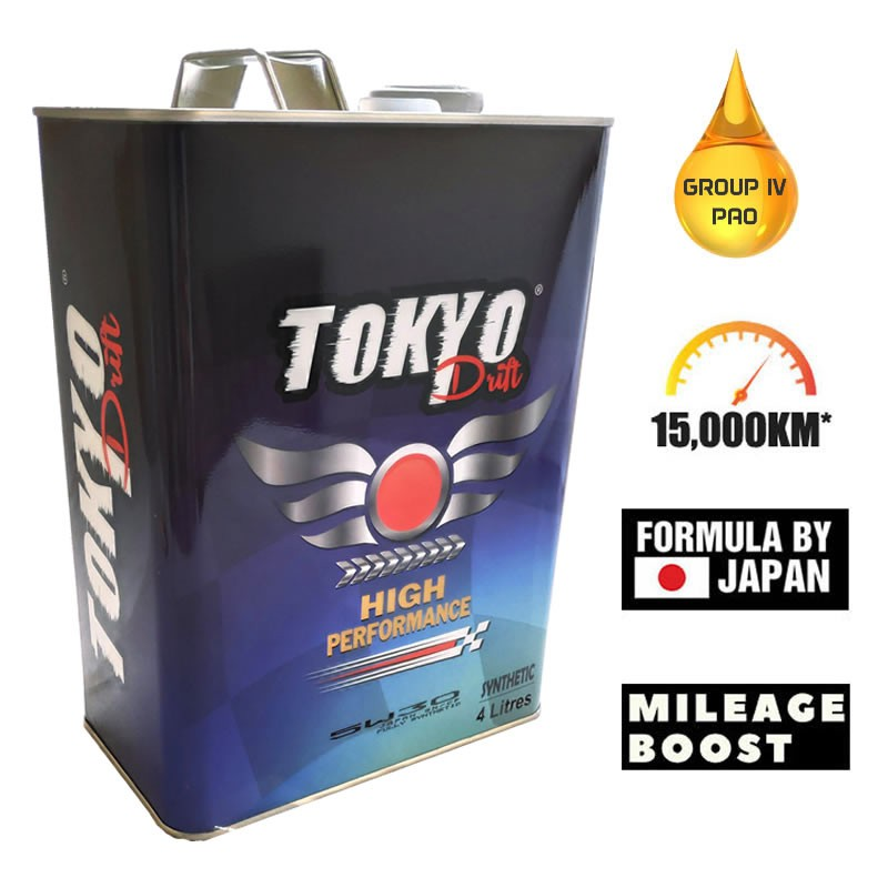 Tokyo Drift 5W30 Fully Synthetic High Performance Engine Oil 4L