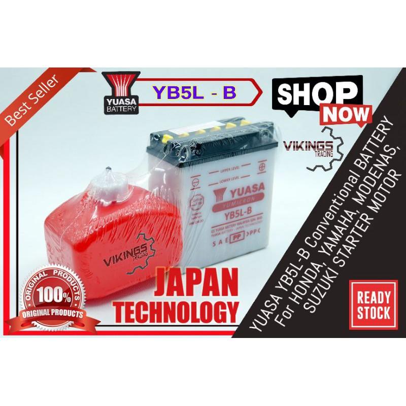 YB5L VIKINGS 100% ORIGINAL AUTHENTIC JAPAN BATTERY YB5L-B EX5 LC135V1 SRL110 WAVE100 KRISS CT100 CT110 MR1 ACE115