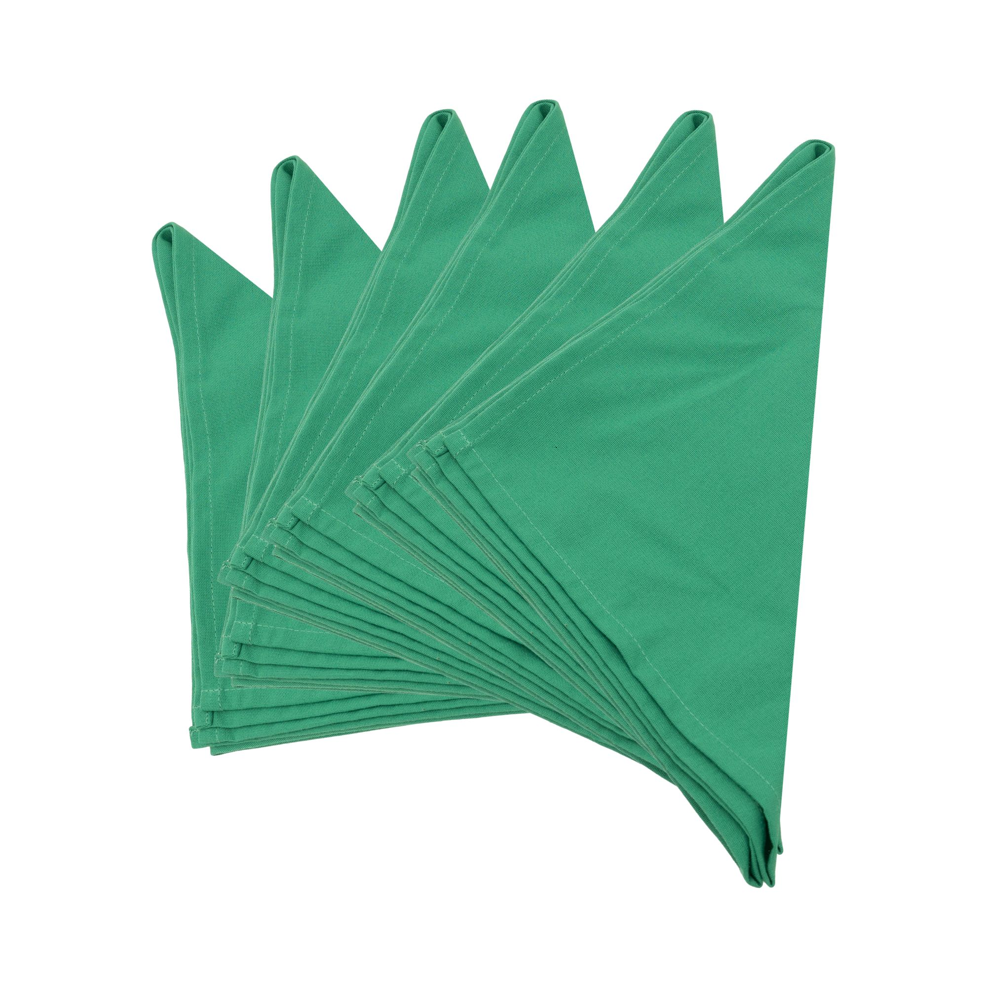 Plain UK Emerald Green Thick Spun Polyester Table Napkins/Fabric Serviette 51x51cm.Pack of 2,4 or 6(Emerald Green)