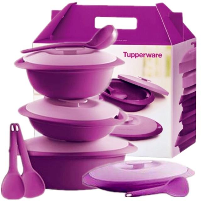 Tupperware Lady Lavender Serving Set