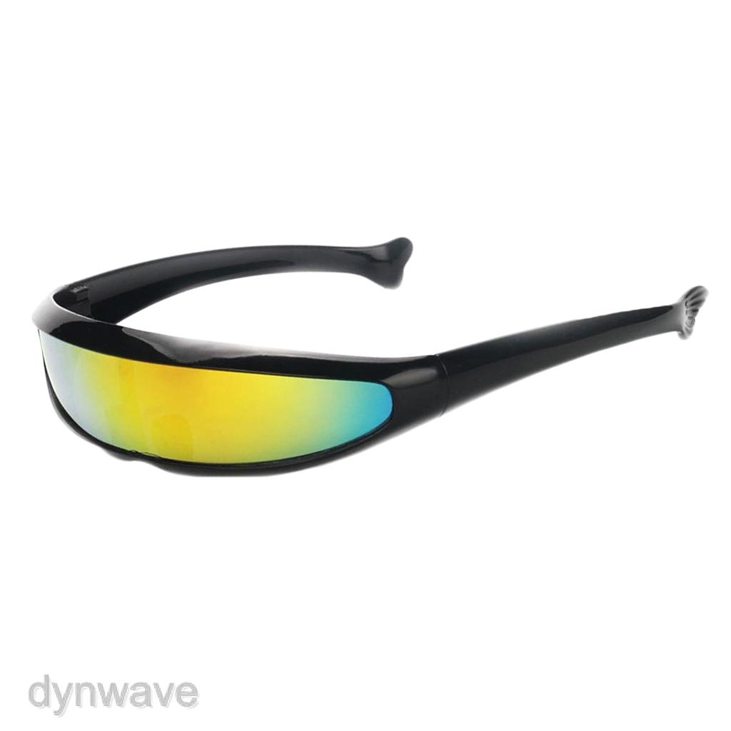 2pcs  Sunglasses Futuristic Narrow Party Glasses Eyewear Unisex