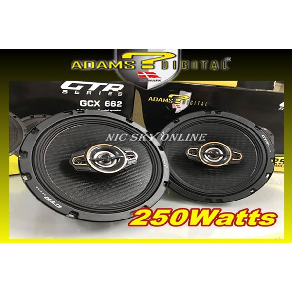 SPEAKER Adams Digital GTR Series GCX-662 6.5 inch 2-Way Coaxial Speaker 250W