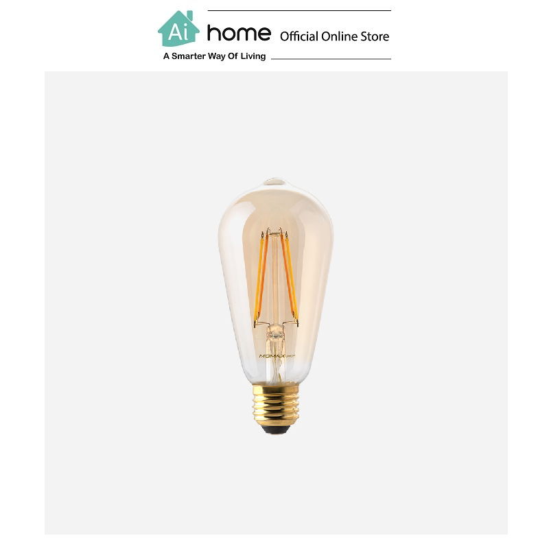 MOMAX IOT Smart Classic LED Bulb (EDISON) / E27 (IB2SY) [ Ai Home ]