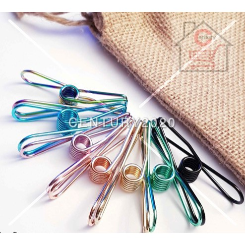 Metal Clothes Pegs-Colourful Laundry Pegs for Washing Line Camping Clothes Line Food Bags Photos Clips 24pcs    1 PACK =