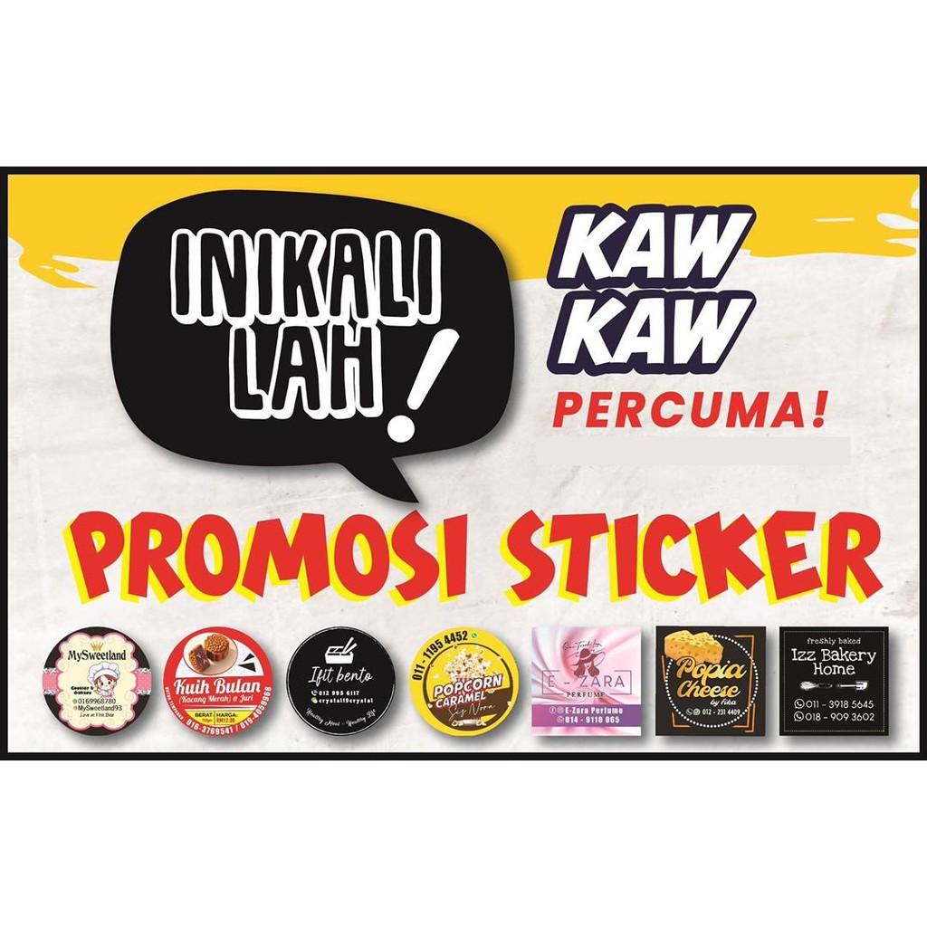 【FREE 1000PCS!!!】WATERPROOF Sticker Kahwin / Sticker Produk / Label Sticker Promosi Murah  (3cm/4cm/5cm/6cm)