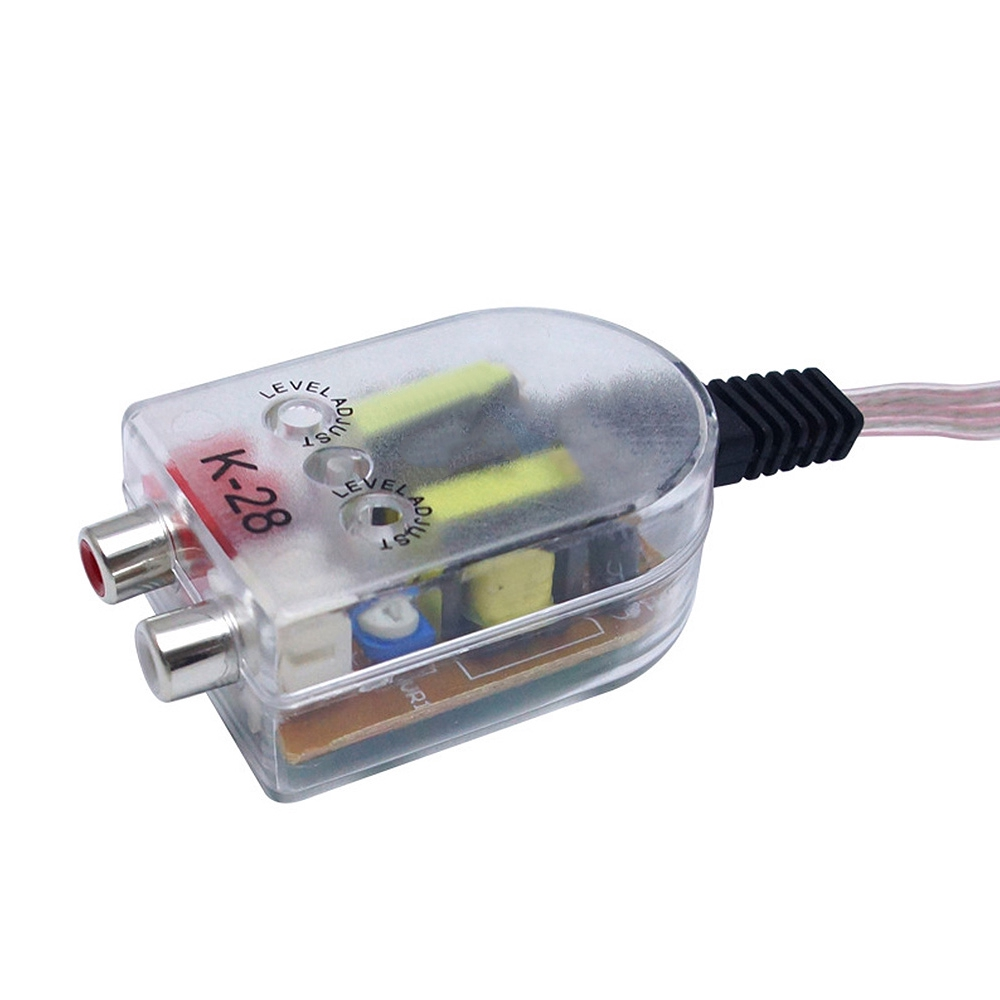 1x Car Auto Radio Speaker High To Low RCA Line Audio Impedance Converter Adapter