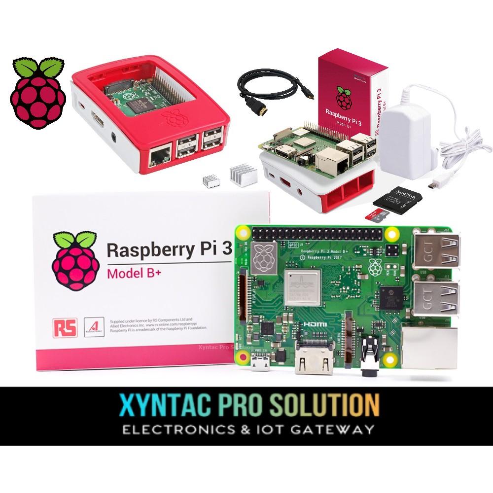 Raspberry Pi 3 Model B+ / Plus Full Kit Set + 1 year Warranty For IOT