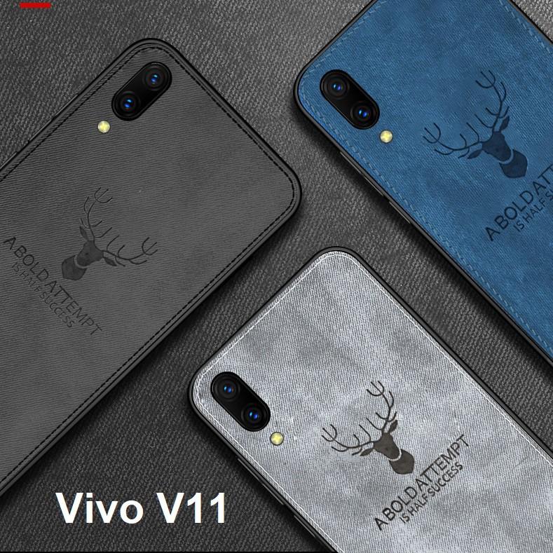 Vivo V11 VivoV11 Cloth Texture Phone Case Casing Cover
