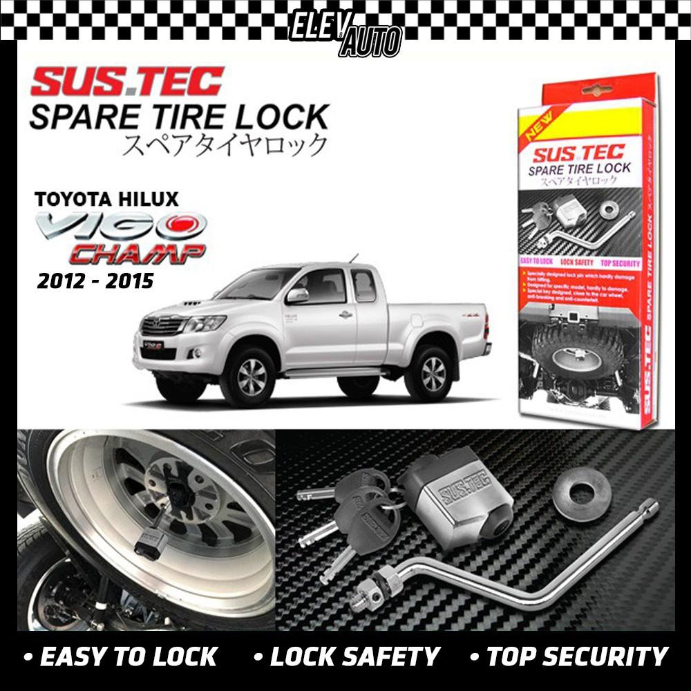 Toyota Hilux Vigo 2012-2015 SUSTEC Spare Tire Wheel Lock Anti-Theft