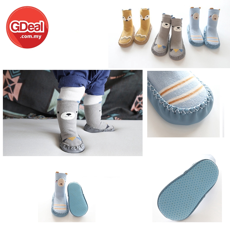 GDeal 1 To 3 Years Old Cartoon Tube Shoes Baby Toddler Anti-slip Bottom Combed Cotton Floor Socks