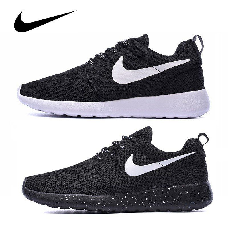 super słodki rozmiar 7 o rozsądnej cenie Original Nike Roshe run one running shoes women men sports unisex sneakers  black