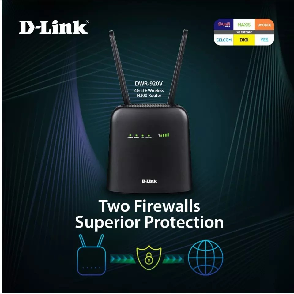 D-LINK DLINK 4G LTE WIFI 300Mpbs MODEM ROUTER DWR-920V similar with DWR-932C