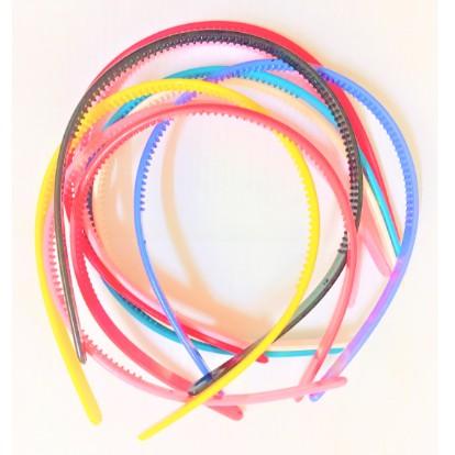 Plastic Fine Code Hairbands Ladies/Girls/Kids Simple Style Hair Hoops Teeth Candy Color Headbands