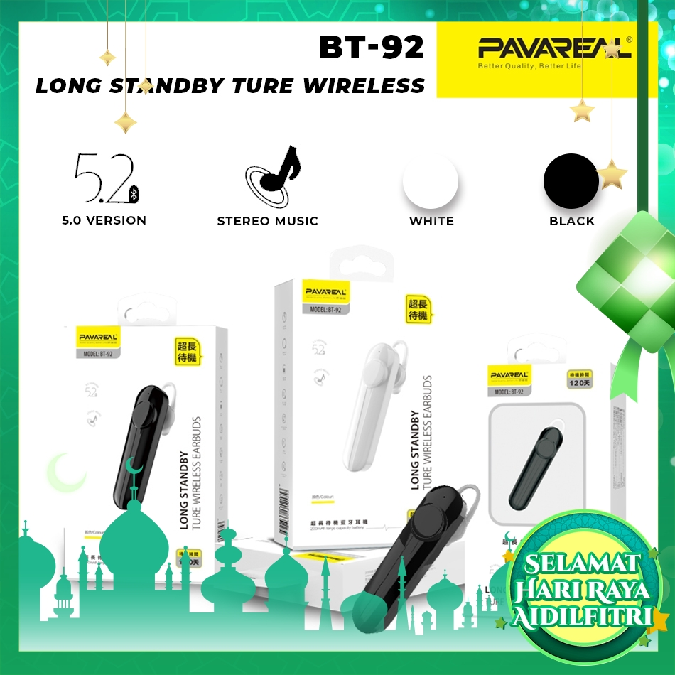 PAVAREAL PA-BT92 Stylish TWS V5.0 Bluetooth Earphone Long Standby 120 days Ture Wireless Earbuds Stereo Sound Call Music