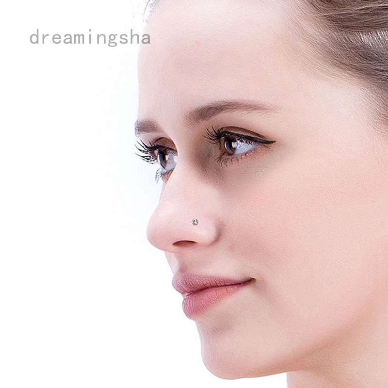 Dreamingsha Stainless Steel Crystal Nose Ring Set Women Girl Steel Nose Piercing Crystal Nose Stud Lot Body Jewelry Shopee Malaysia