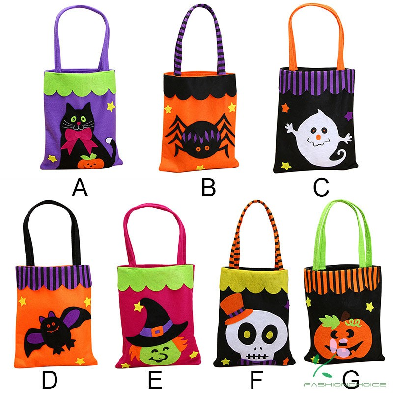 467493f36d86 Halloween Candy Gift Bags Pumpkin Bat Ghost Trick or Treat Bag Sacks  Halloween Gift for Kids