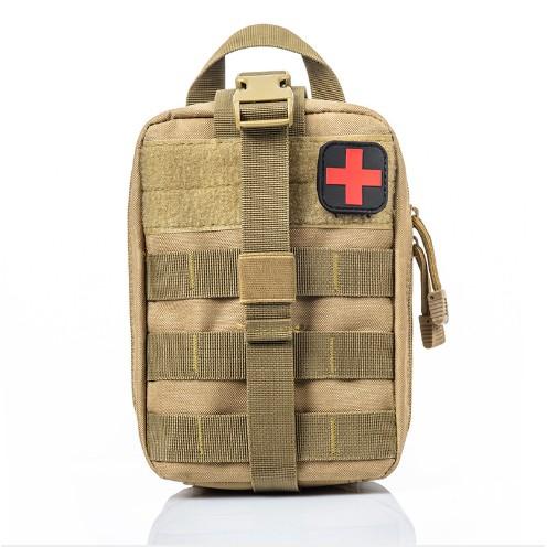 Jipemtra Tactical First Aid Bag MOLLE EMT IFAK Pouch Rip-Away Trauma Bag