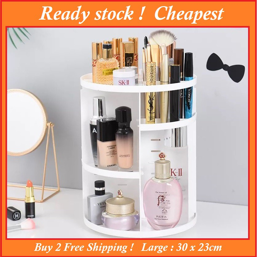 2acad2154d1a Ready stock - Makeup Organizer 360 Rotating Cosmetic Storage Box