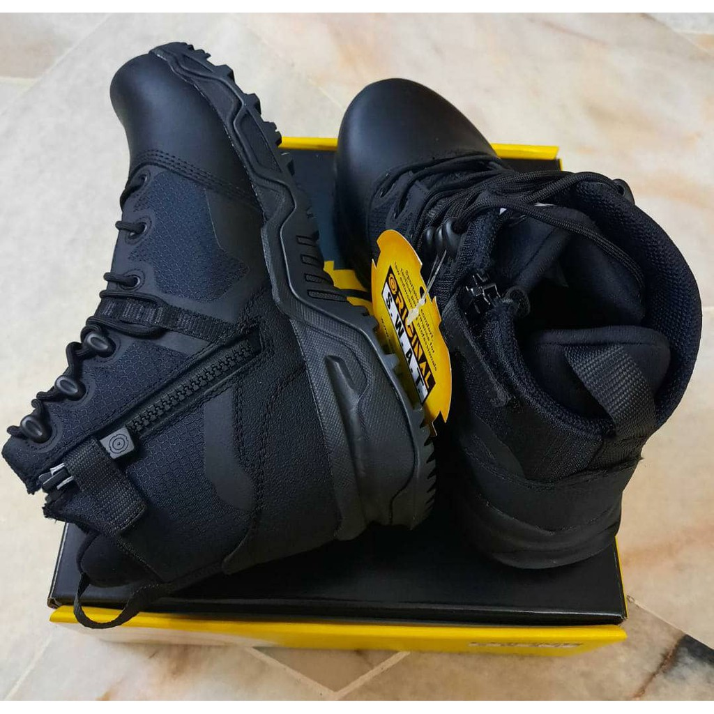 "Original SWAT Alpha Fury 6"" Side Zip Polishable Toe, Kasut Operasi Polis Army Military, 1 Year Warranty - READY STOCK"