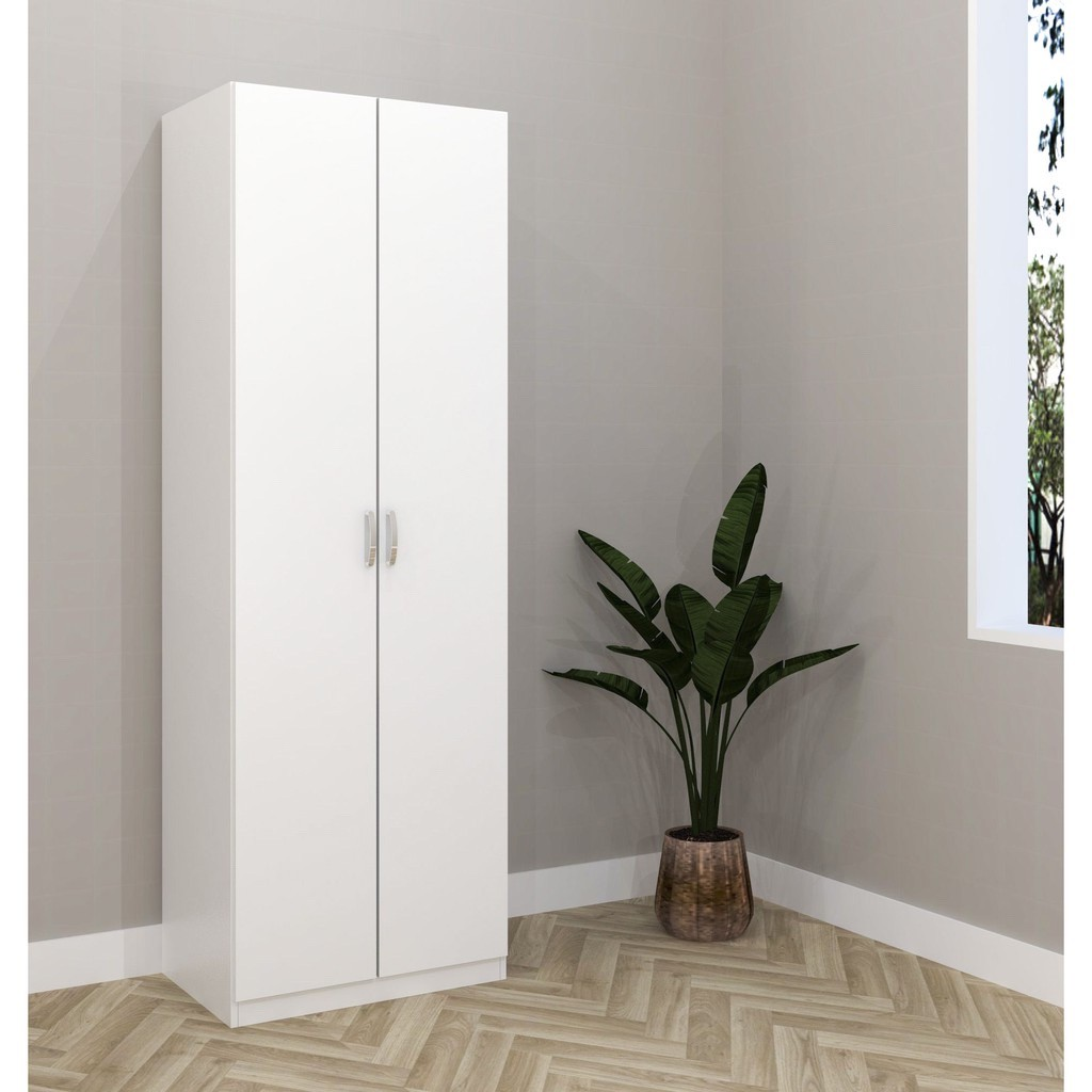 ESCOT 2 DOOR WARDROBE - WHITE/OAK/WENGE ESC-6040W