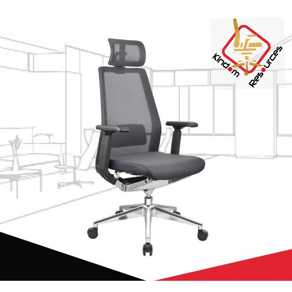(FREE SHIPPING) Office Director ERGOHUMAN Chair (High Quality) (Office Chair Wheel / Office Chair Gaslift / Office)