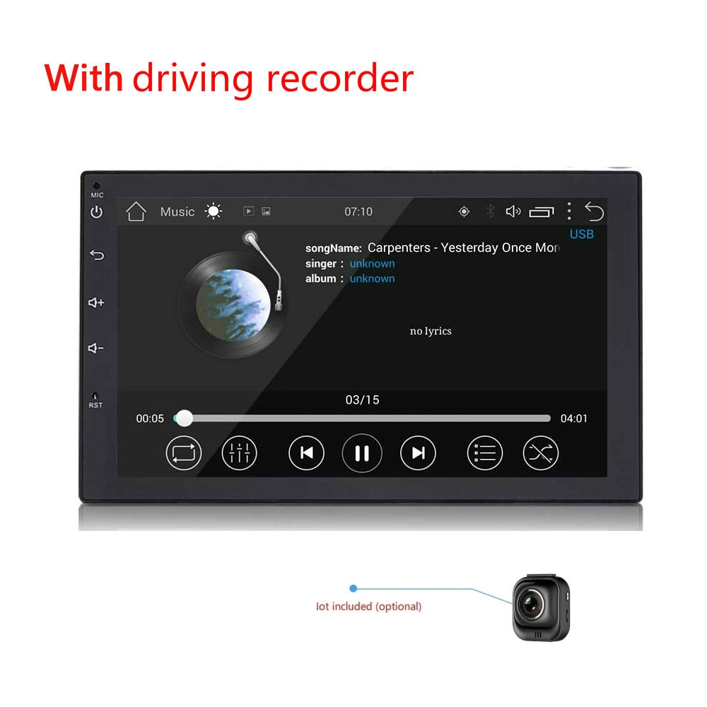 "7/"" 2DIN Autoradio Stereo Bluetooth MP5 Player USB AUX Touch ScreenGPS Freisprech"
