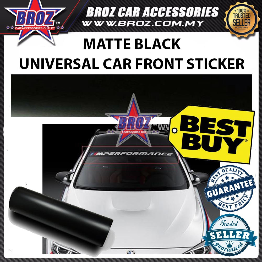 Sandpaper flash black universal wrap car front rear window sticker shopee malaysia