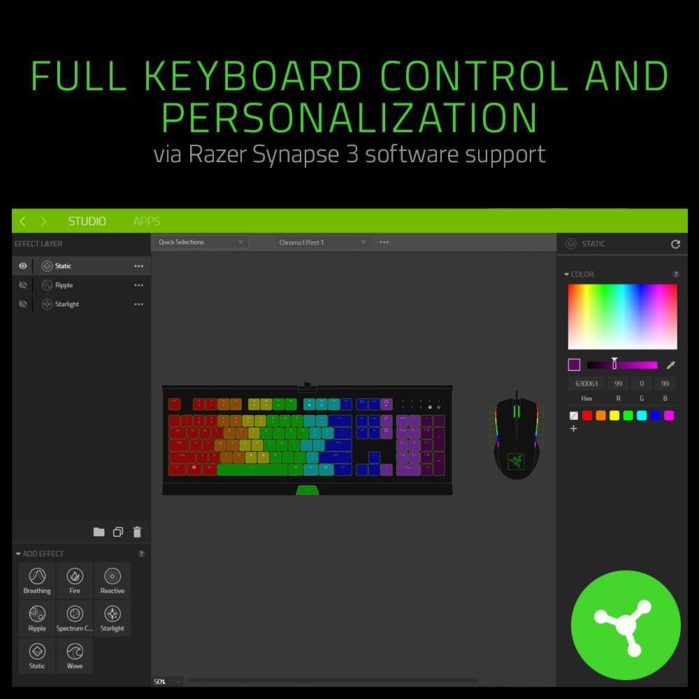 Razer Cynosa Chroma Membrane Gaming Keyboard (RZ03-02260100-R3M1)