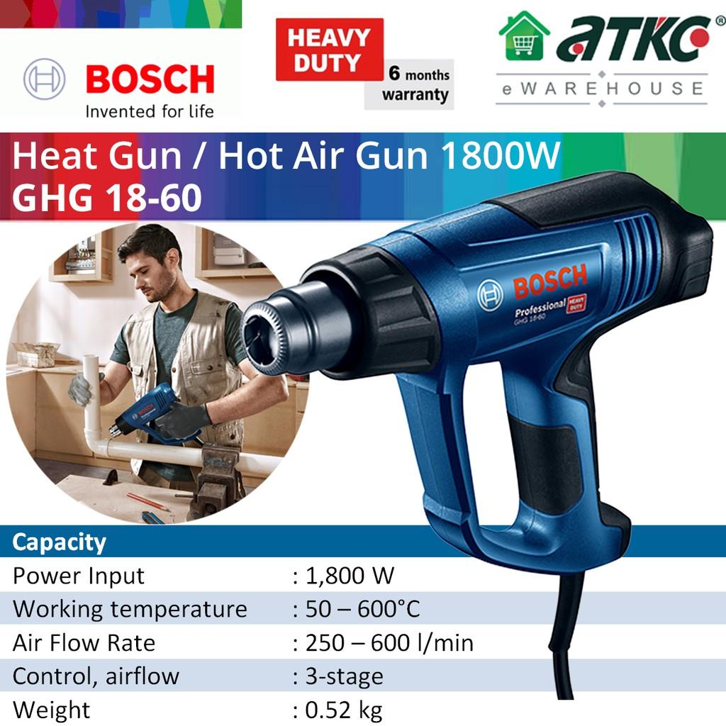 BOSCH GHG 18-60 Heat Gun / Hot Air Gun 1800W (06012A61L0)