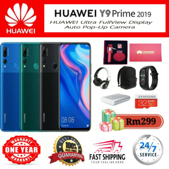 ✨ Huawei Y9 Prime 2019✨[4GB+128GB][2year warranty] 🎁Free Gifts Up To 20++  🎁