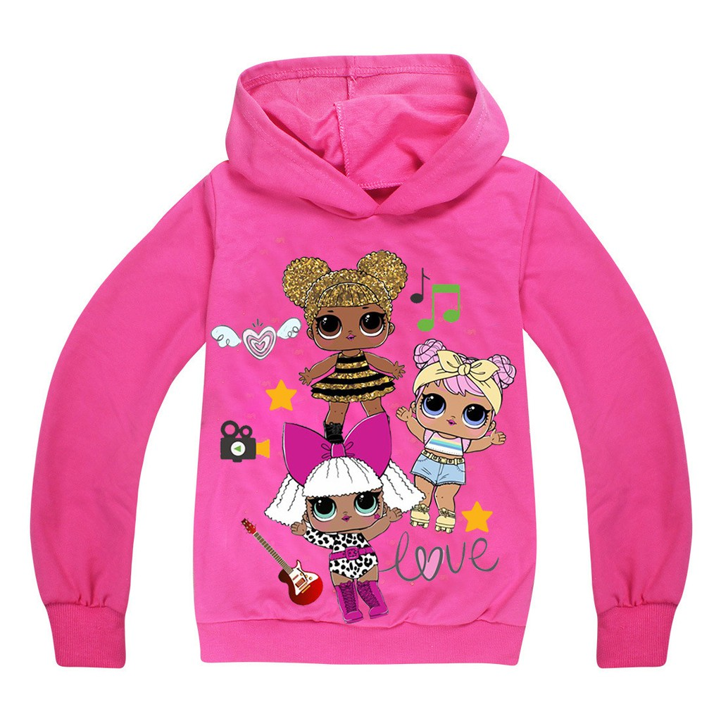 0f002d51c L.O.L lol surprise dolls Kids Boys Girls Hoodies Sweatshirts Casual Tops  Purple | Shopee Malaysia