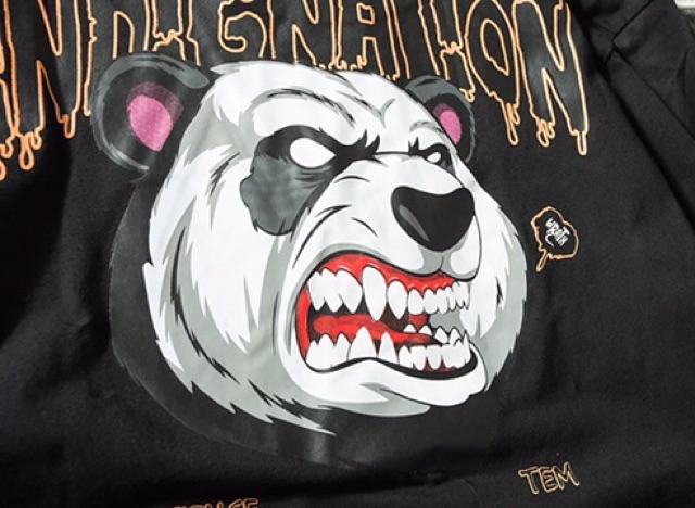 [S~4XL]Men clothing Short Sleeve T Shirt 夏季短tee欧美嘻哈潮牌oversize宽松日系卡通熊猫男士宽松短袖t恤