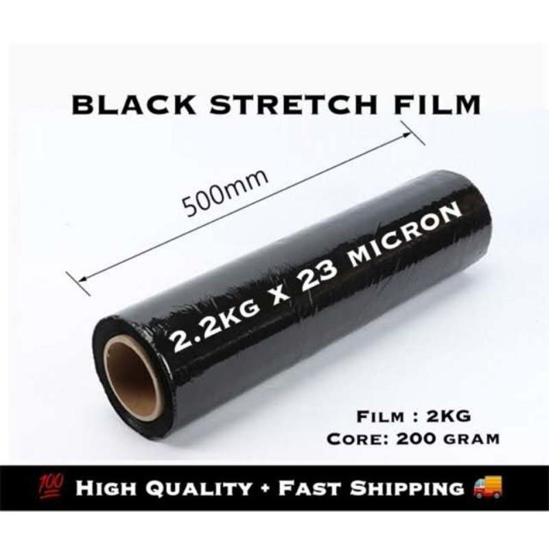 (Ready Stock) 2.2kg Black Stretch Film