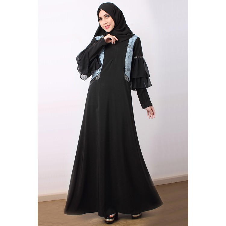 Loffa One Side Cape Style With Pocket Jubah Dress  cf5459961a