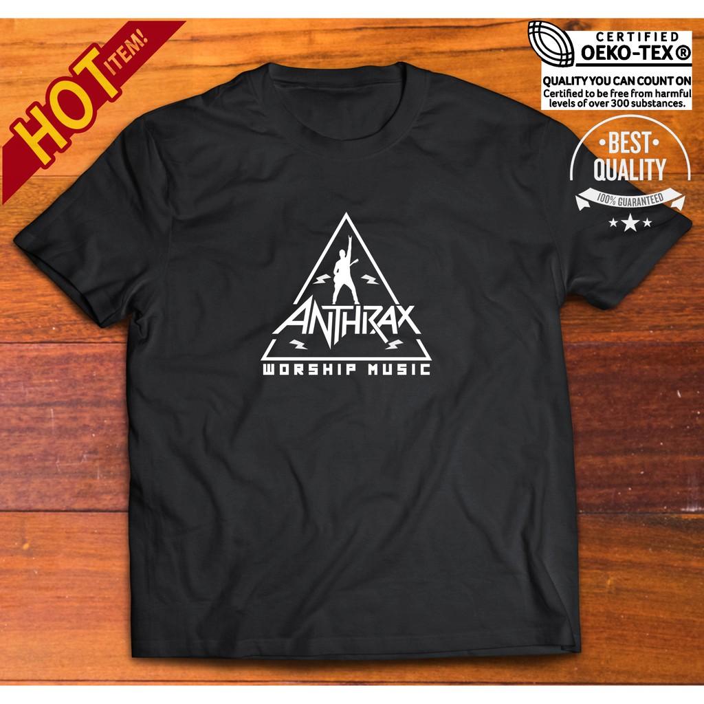 New ANTHRAX Worship Music Metal Rock Band Men/'s Black T-Shirt Size S to 3XL