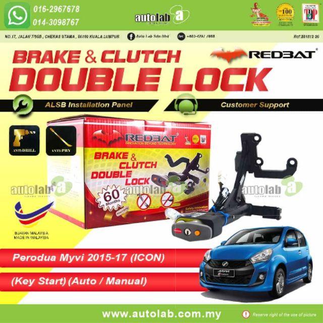 Redbat Double Lock Perodua Myvi Icon (Key Start - auto/manual)