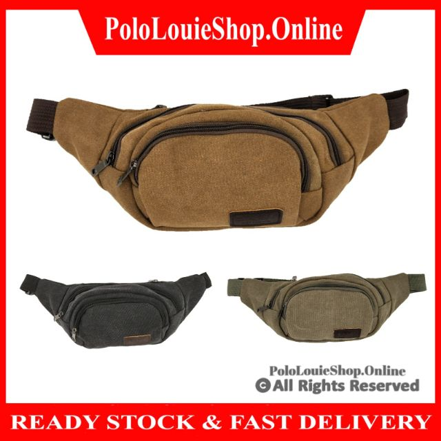 Fashion Sports Travel Men's Chest Fanny Pack Waist Pouch Bag Canvas Shoulder Bag