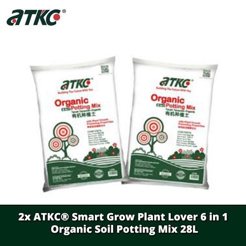 [COMBO] 2 X ATKC® Smart Grow Plant Lover 6 in 1 Organic Soil Potting Mix 28L