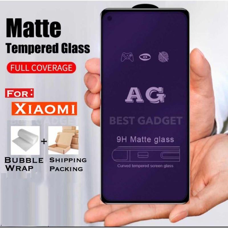 MATTBLUERAY Redmi MI 7 7A 8A 9 9A 9C 9T Note 5 7 8 Pro 9 9s 9pro Poco F1 M3 X3 AG 9H 9D Matt Blueray Tempered Glass Full