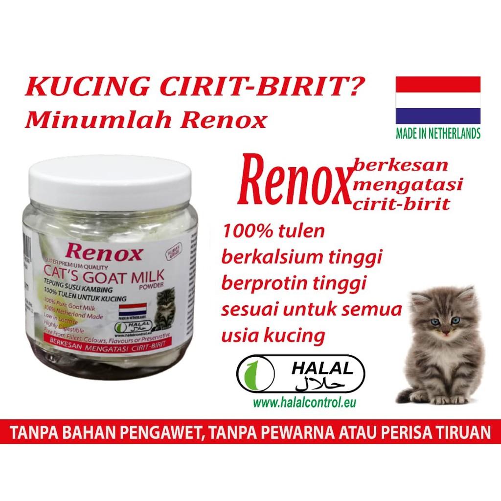 (FREE GIFT)RENOX Cat's Goat Milk 100g, Super Premium -100% Pure Goat Milk Powder | Netherland Made | Susu Kucing | HALAL