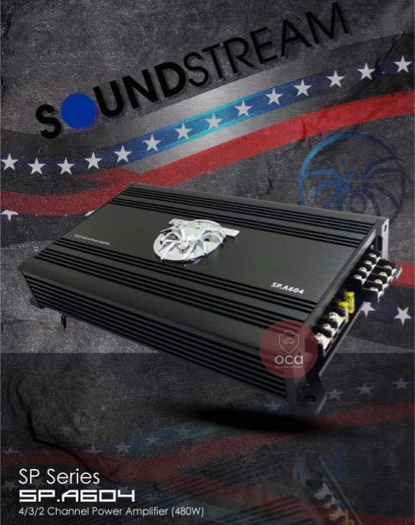 SOUNDSTREAM 4/3/2 Channel Car Amplifier 480W 4 Channel 60W RMS x 4 (4 ohms) SP.A604