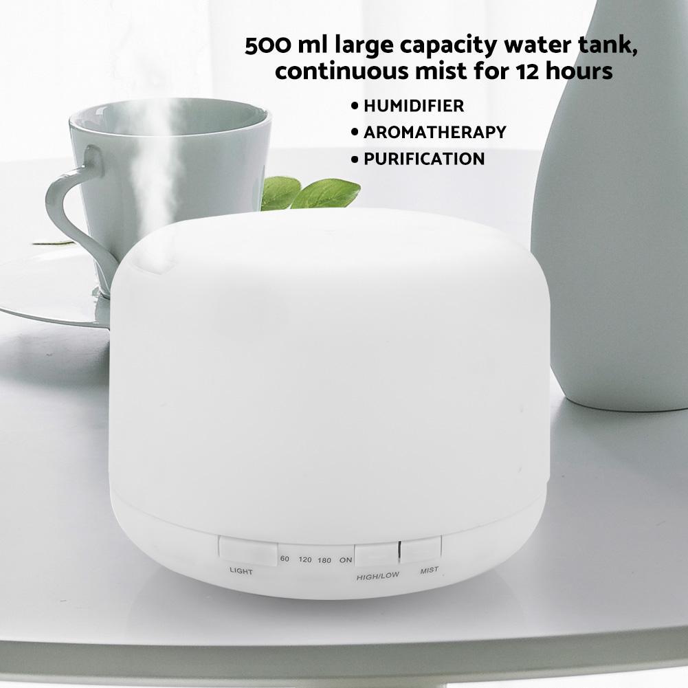 500ml Essential Oil Diffuser Aroma Humidifier 7Color Light