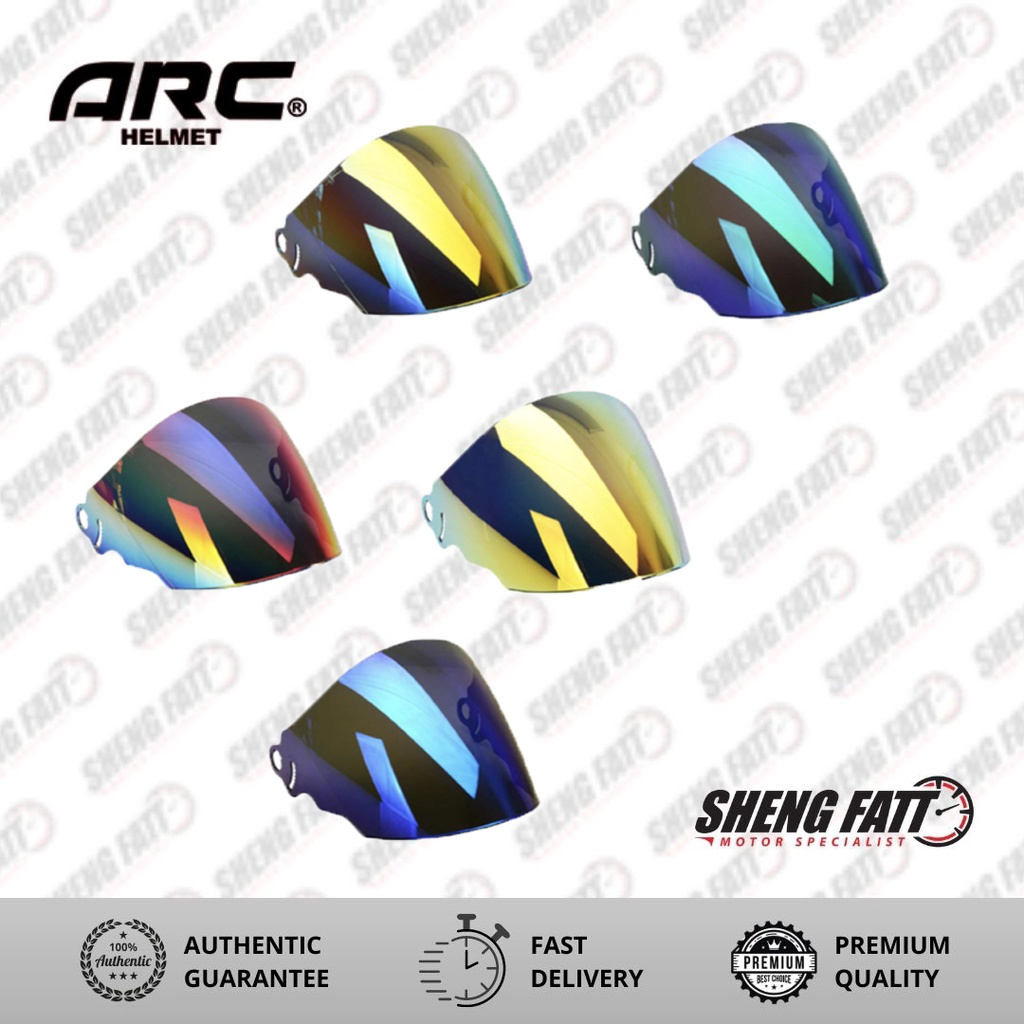 ARC Ritz Visor (Rainbow/ Green/ Orange/ Purple/ Smoke)