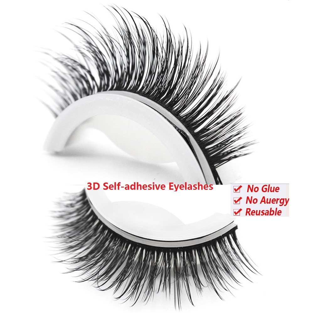 0c72fbbed0f No Glue Required Self-adhesive Eye Lashes 3D Faux Mink Hair False Eyelashes  dy   Shopee Malaysia